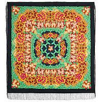 День осени златой 1813-14, павлопосадский платок шерстяной  с шелковой бахромой , фото 1