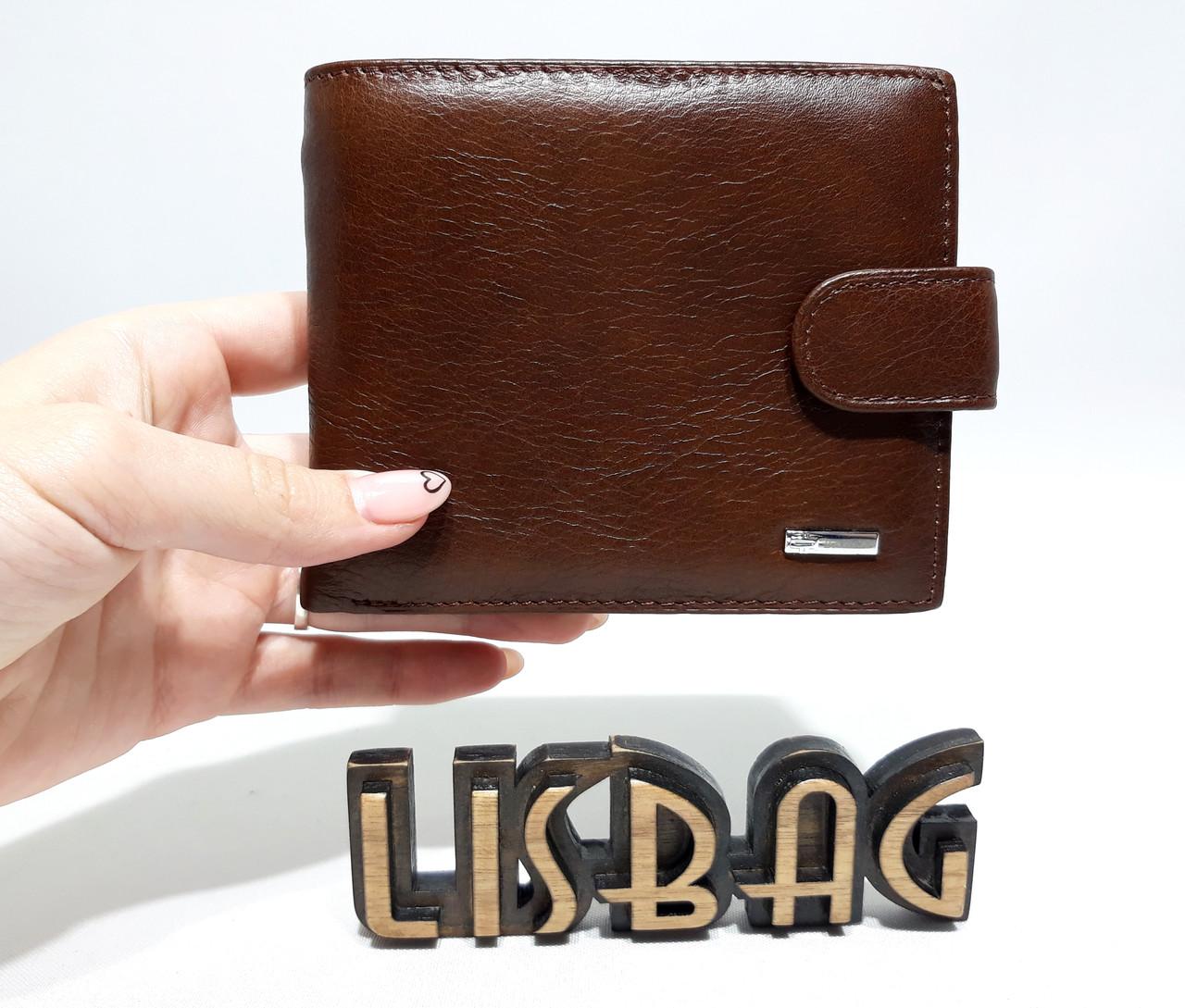c987837aaacc Мужской кожаный кошелек/зажим Balisa на кнопке для денег, повседневная  носка коричневый