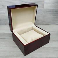 Коробка для часов под дерево темно-коричневая.