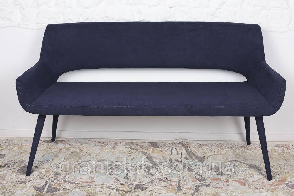 Кресло - банкетка BARCELONA (131х61х81 см) текстиль темно-синий Nicolas