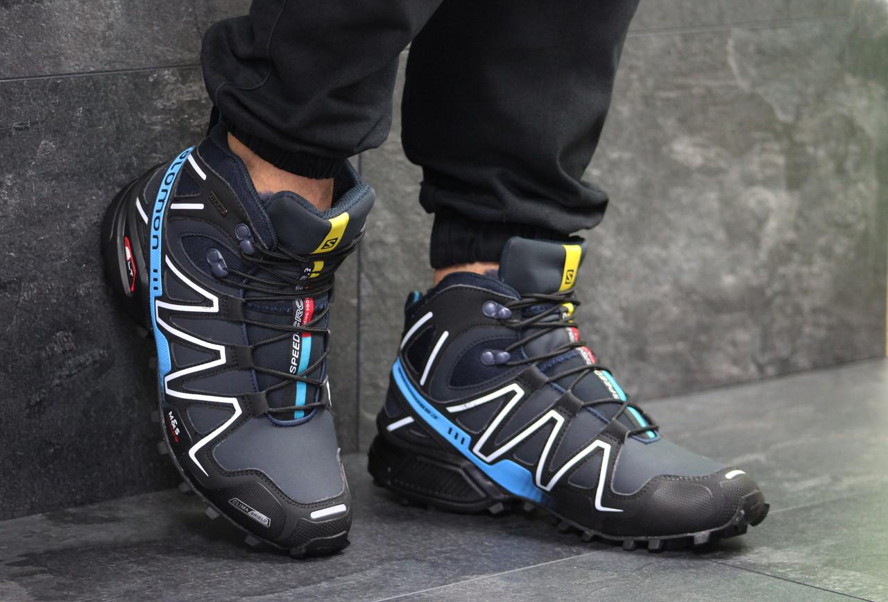 Мужские кроссовки в стиле Salomon Speedcross 3. Код  Д - 6488. Темно синие a83a53be7089b