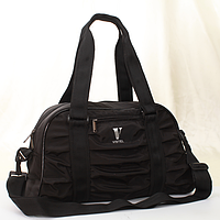 Сумка Vistel 12008 B черная плащевка женская спортивная