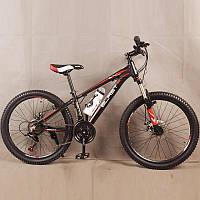 Велосипед горный S300 BLAST-БЛАСТ. Диаметр колёс 24'',Рама 13'', Чёрно-Красный