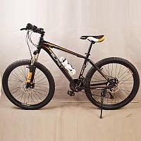 Велосипед горный S300 BLAST-БЛАСТ. Диаметр колёс 26'',Рама 17'' алюминий, Чёрно-Оранжевый, фото 1
