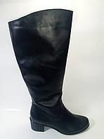 Женские кожаные сапоги на широкое голенище ТМ Камея, фото 1