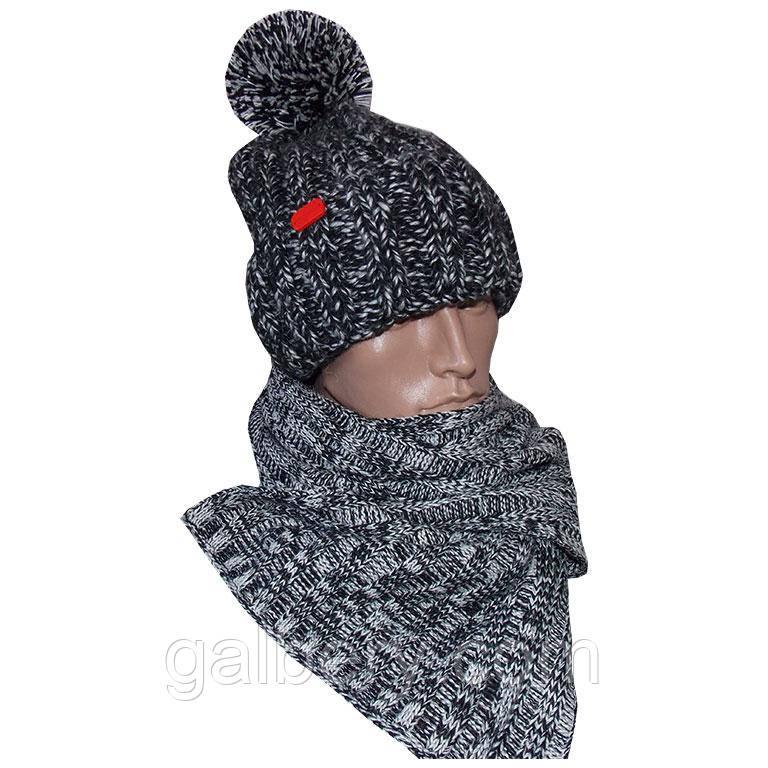 Зимняя шапка ручной работы и шарф
