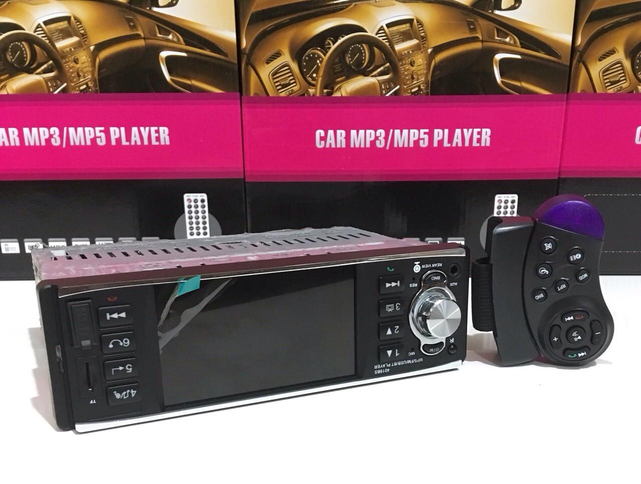 "Автомагнитола 1Din 4019BS-4,1"" USB+SD DIVX/MP4/MP3/DVR + пульт на руле"
