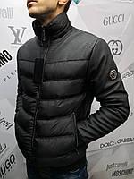 Куртка мужская Philipp Plein D4530 черная демисезонная