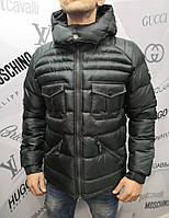 Куртка мужская Boss D4572 черная зимняя
