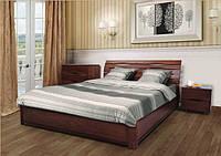 Ліжко деревяне Марія (світлий горіх) з під'ємним механізмом