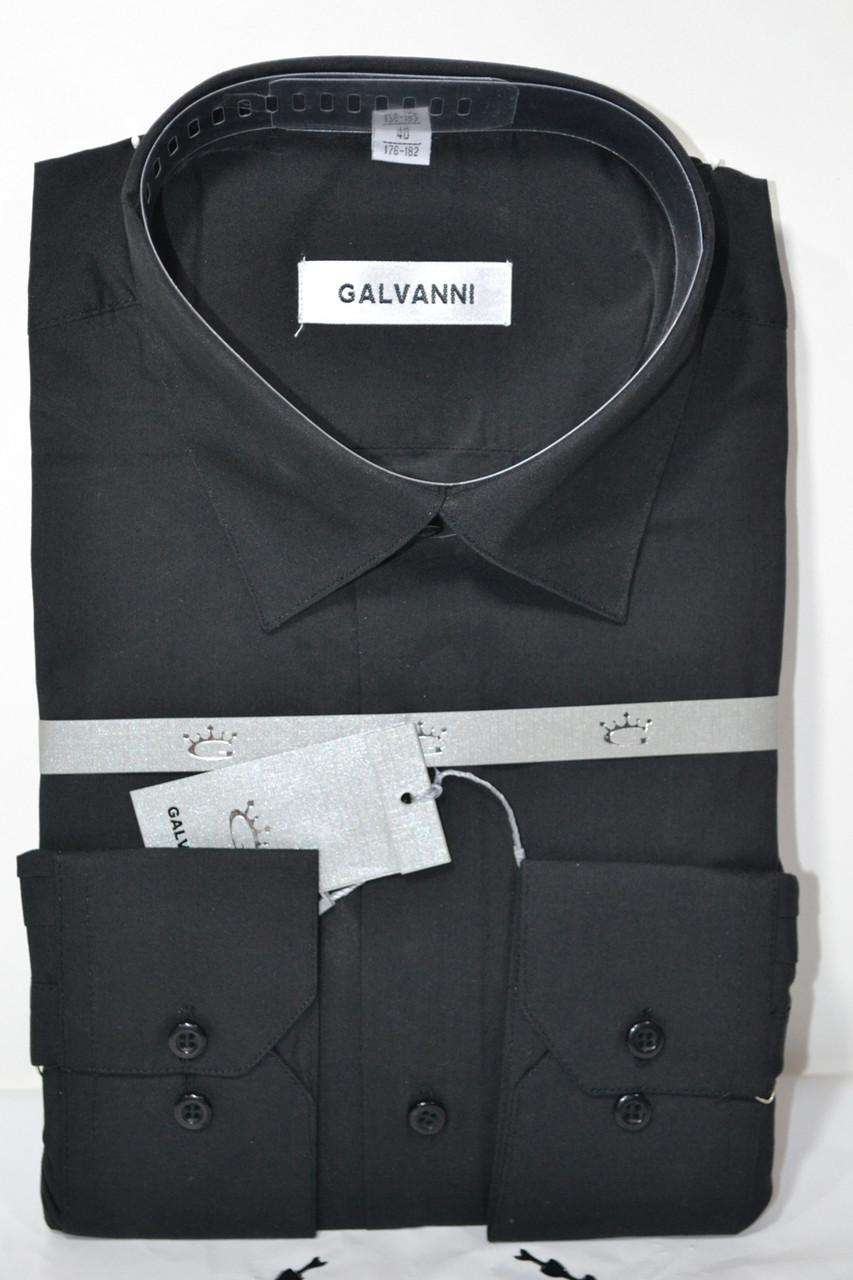 Мужская черная классическая рубашка GALVANI (размер 41, 45)