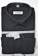 Мужская черная классическая рубашка GALVANI (размер 41, 45), фото 1