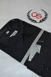 Мужская черная классическая рубашка GALVANI (размер 45), фото 2