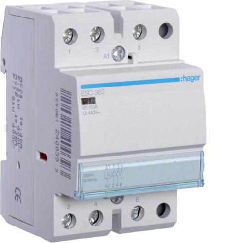 Контактор стандартный 63А, 3НО, 230В, 3М (Hager), фото 1