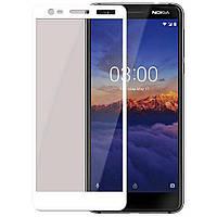 Защитное стекло Nokia 3.1 / 3 2018 Full cover белый 0,26мм в упаковке