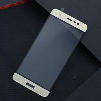 Защитное стекло Asus Zenfone 3 Max / ZC520TL Full cover золотой 0.26mm 9H в упаковке