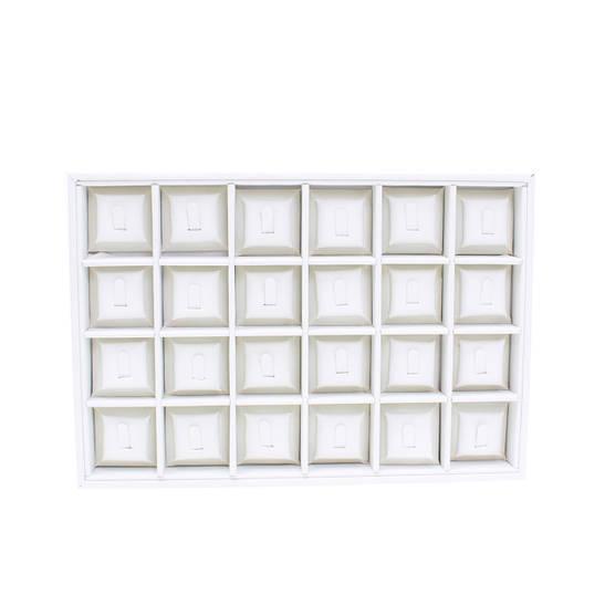 """Планшет ювелирный """"24 Ячейки под кольцо эко-кожа 35 х 24 х 3 см"""""""