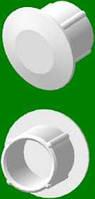 Кнопка -заглушка дюбеля для потолочного карниза