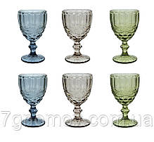 Набор 6 бокалов из цветного стекла Виктори 250 мл, фото 3
