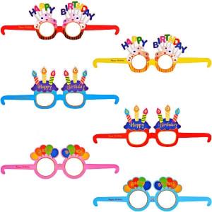 """Набор картонных разноцветных очков """"Happy birthday"""" 6 шт"""