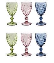 Набор 6 бокалов из цветного стекла Изольда 300 мл, фото 3