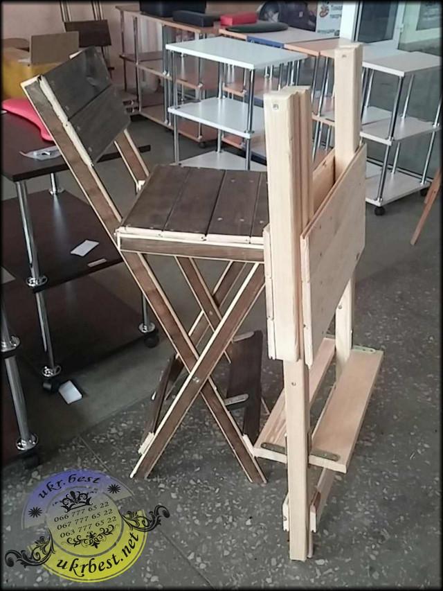 Складывающийся стул 75 см для макияжа, причесок. Мебель для мастеров красоты, парикмахерских, салонов - от производителя в Украине, компании UkrBest.