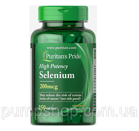 Селен Puritan's Pride Selenium 200 mcg 250 капс., фото 2