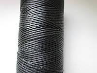Нить вощёная плоская 0,55 мм чёрная 100 метров