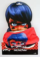 Теплий шарф-снуд для дівчаток Lady Bug 21x48,5 см