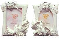 Фоторамка свадебная белая с колокольчиками