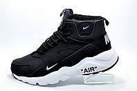 Зимние кроссовки с мехом в стиле Nike Air Huarache Mid, Black\White