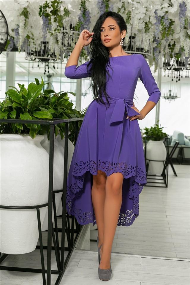 Женское Платье, цвет Лаванда (141)205-4. (5 цветов), Ткань: креп. Размеры: 42, 44, 46, 48, 50.