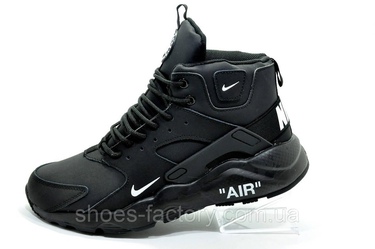 save off e041e 11a6f Кроссовки на меху в стиле Nike Air Huarache Mid, Black (Зимние)
