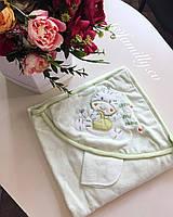 Полотенце уголок для новорождённых для купания Турция