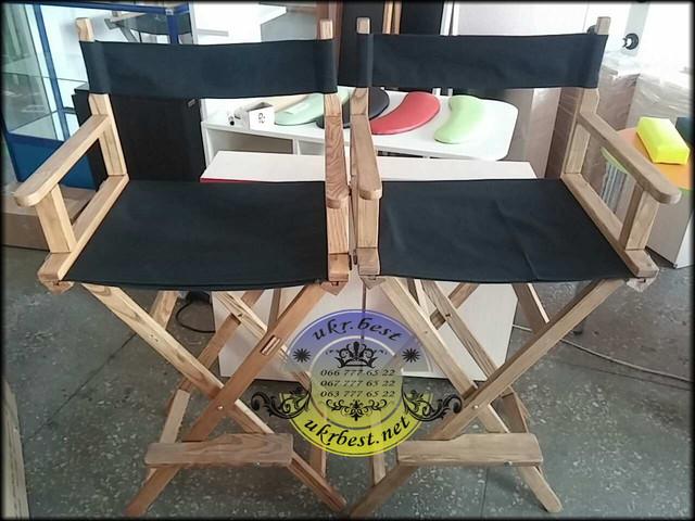 Высокий складной деревянный стул - лёгкий и компактный - для мастеров красоты, салонов, парикмахерских. Производство Киев, UkrBest.