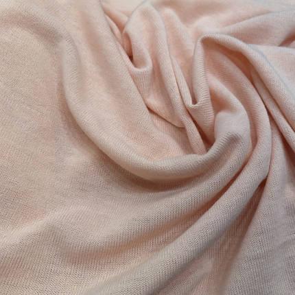 Трикотаж ангора тонкая персиковая, фото 2