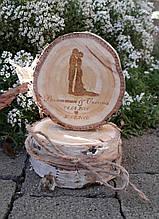 Весільні топпери з дерева