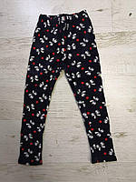 Велюровые лосины утепленные для девочек оптом, Xiang, 128-158 см,  № D-6, фото 1