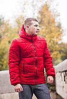 "Курточка мужская Jacket Spring/Autumn ""Euro"" весенняя/осенняя утепленная, цвет красный, фото 1"
