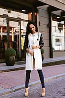"""Женское пальто  """" Рукава экокожа """" Dress Code, фото 1"""