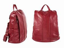 Мини рюкзак прогулочный женский красный