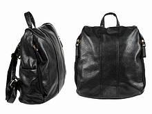 Черный женский рюкзак городской