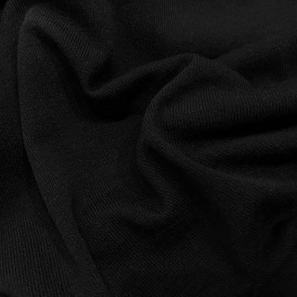 Трикотаж ангора тонкая черная, фото 2