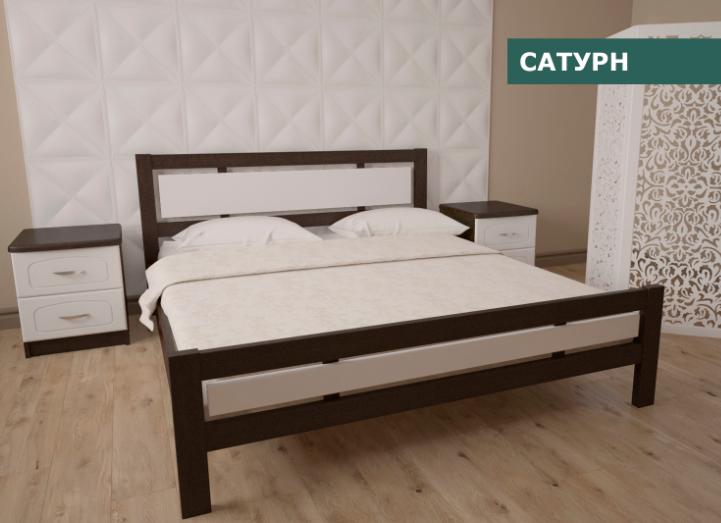 """Кровать """"Сатурн"""" из натурального дерева (сосна, ольха)"""
