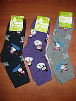 Махровые женские носки Топ-тап. Р. 23- 25. Житомир. Снеговик., фото 1