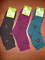 Махровые женские носки Топ-тап. Р. 23- 25. Житомир. Снегири., фото 1
