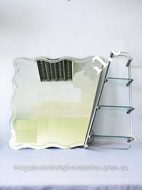 Зеркало фигурное с полкой MJ-8111 700 х 900