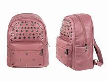 Рюкзак розовый подростковый кожзам