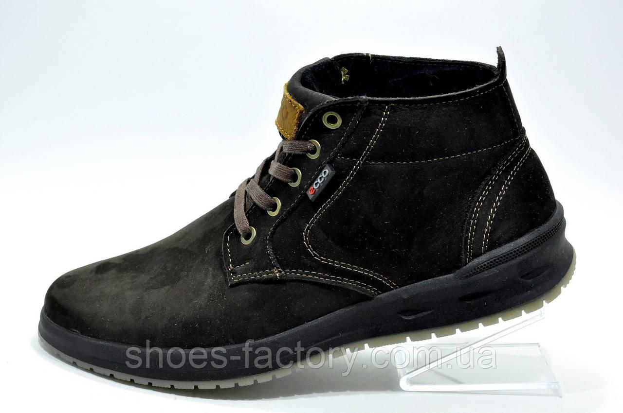 Ботинки зимние в стиле Ecco мужские на меху, Brown