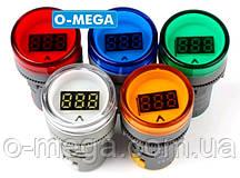 Вольтметр цифровой AC 60-500V светодиодный, красный